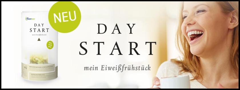 Mit dem Eiweiß-Kick am Morgen starten Sie figurbewusst in den Tag und nehmen auch bei den folgenden Mahlzeiten weniger Kalorien zu sich. DAY START liefert Ihnen 26 g hochwertiges Eiweiß pro Portion.